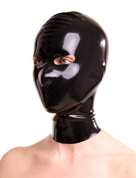 Anita Berg Latex Zip-Kopfmaske mit Augenöffnungen