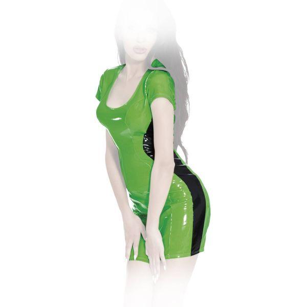Insistline Datex Kurzarm Minikleid zweifarbig mit Zip