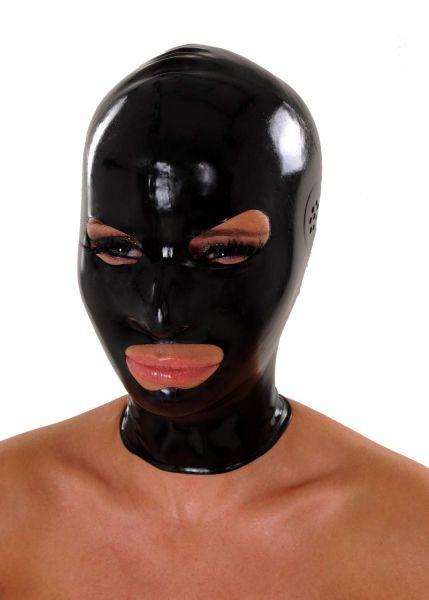 Anita Berg Latex Zip-Kopfmaske mit Ohr-Perforation