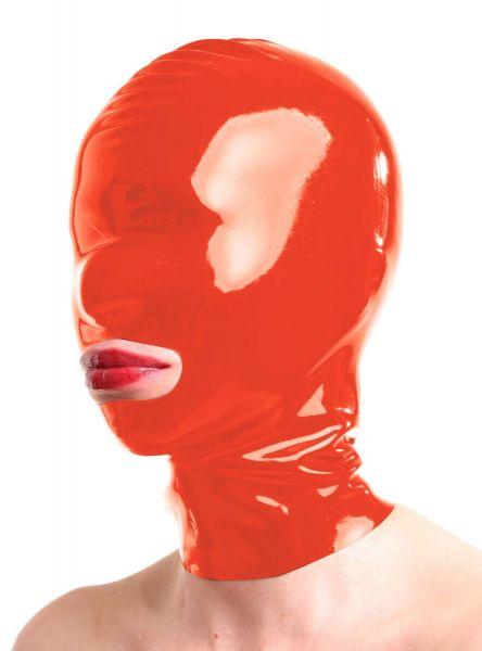 Anita Berg Latex Zip-Kopfmaske mit Öffnung