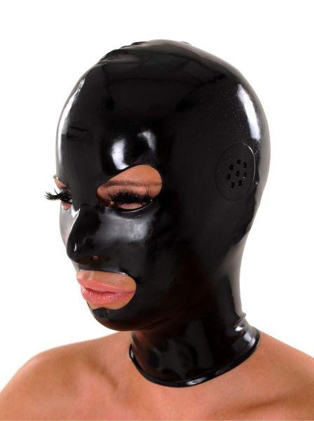 Anita Berg Latex Kopfmaske mit Ohr-Perforation