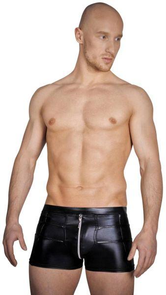 Noir Handmade Herren Wetlook Shorts mit Zip