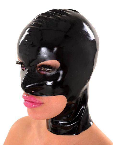 Anita Berg Latex Kopfmaske mit Augen-Mund-Kinn-Öffnung
