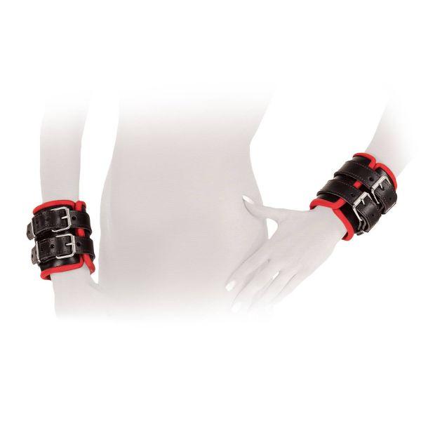Ledapol Leder Bondage Handfessel Paar S-L
