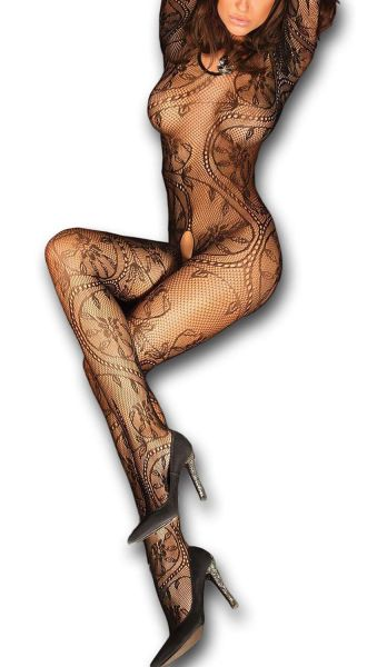 LivCo Catsuit Bodystocking ABRA ouvert