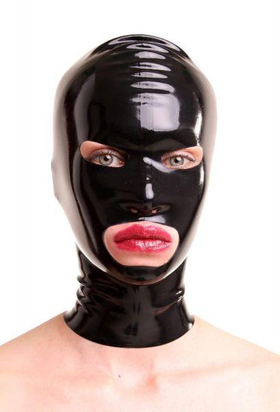 Anita Berg Latex Zip-Maske mit ovalen Öffnungen