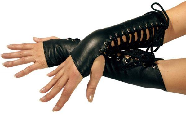 Ledapol Leder Handschuhe mit Schnürung