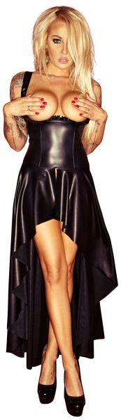 Noir Handmade Ouvert Kleid mit Schnürung