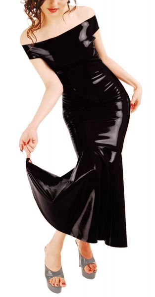 Anita Berg Latex Carmen Kleid mit Zip