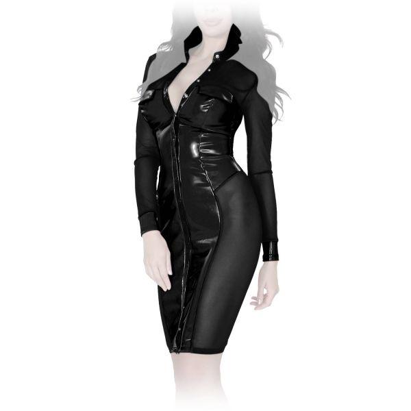 Insistline Atemberaubendes Datex Kleid mit Tüll-Einsätzen
