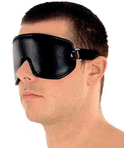 Ledapol Spaltleder Augenklappe mit Gummiband