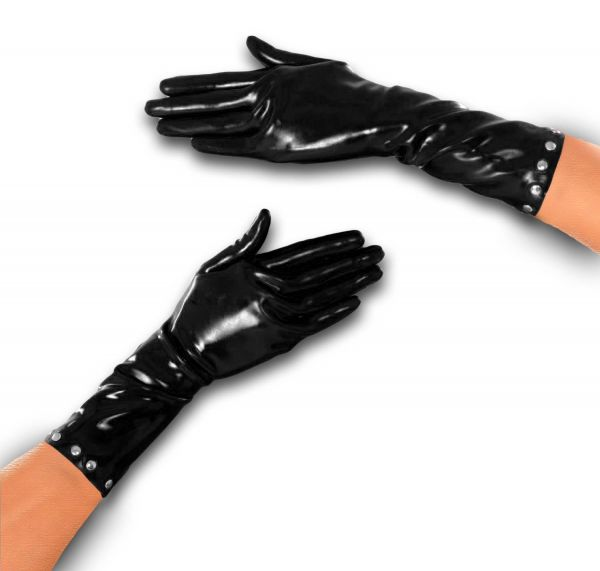 Anita Berg Latex Handschuhe mit Nieten