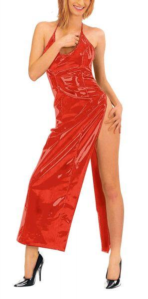 Ledapol Neckholder Lack Kleid hochgeschlitzt
