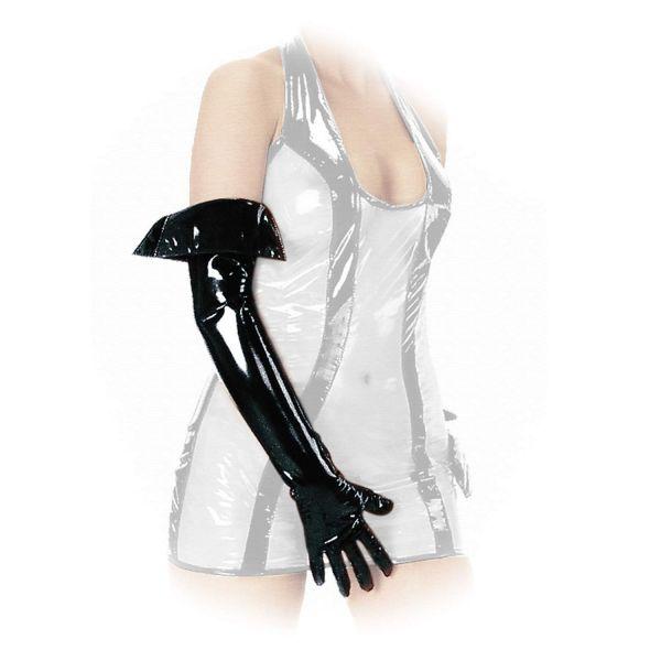 Ledapol Lack Handschuhe mit Umschlag