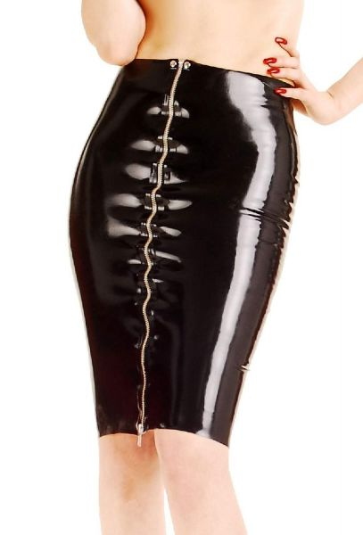 Anita Berg Latex Rock mit Zip