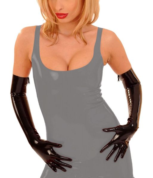 Anita Berg Latex Handschuhe Gloves mit Zip