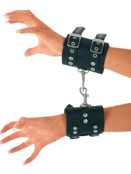 Ledapol Leder Handfesseln mit Karabinerhaken