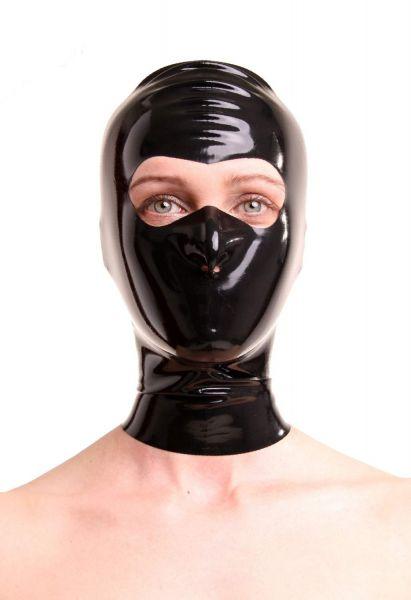Anita Berg Latex Kopfmaske mit offenem Augenbereich