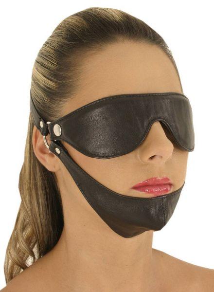 Ledapol Leder Augenmaske mit Kinn