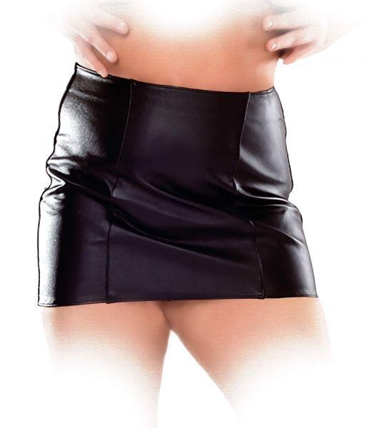 Ledapol Leder Minirock mit Zip