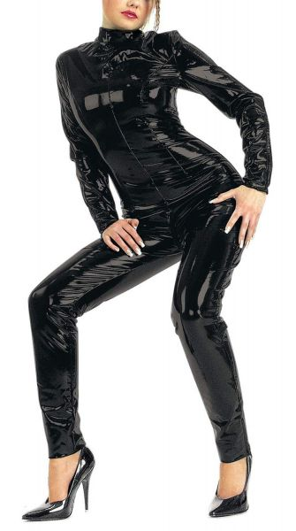 Ledapol Lack Langarm Overall Catsuit