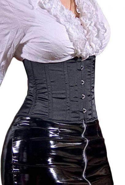 Taillen Mieder Korsett schwarz mit Schließe