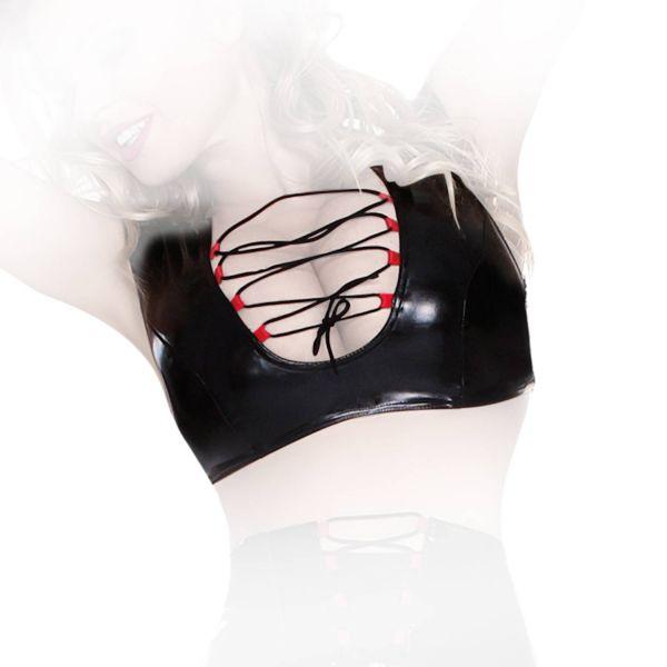 Enges Datex Bustier / Top mit Zierschnürung