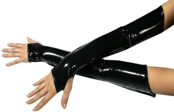Ledapol Lack Armstulpen mit Zip