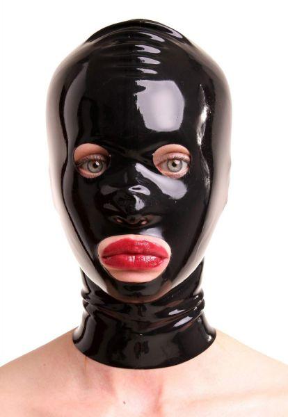 Anita Berg Latex Zip-Maske mit runden Öffnungen