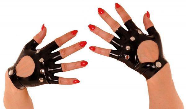 Anita Berg Fingerlose Latex Handschuhe mit Nieten