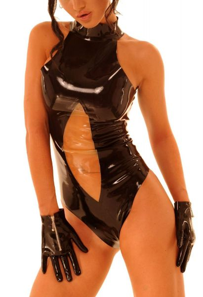Anita Berg Latex Body ouvert mit Zip