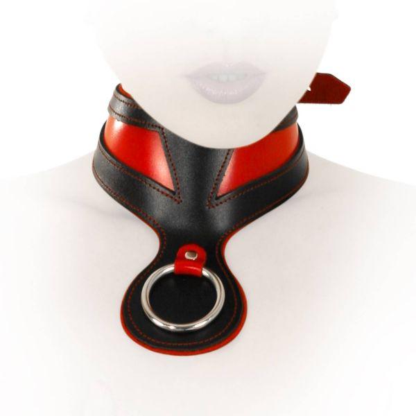 Ledapol Leder Fetisch Collar Halsband Ring der O