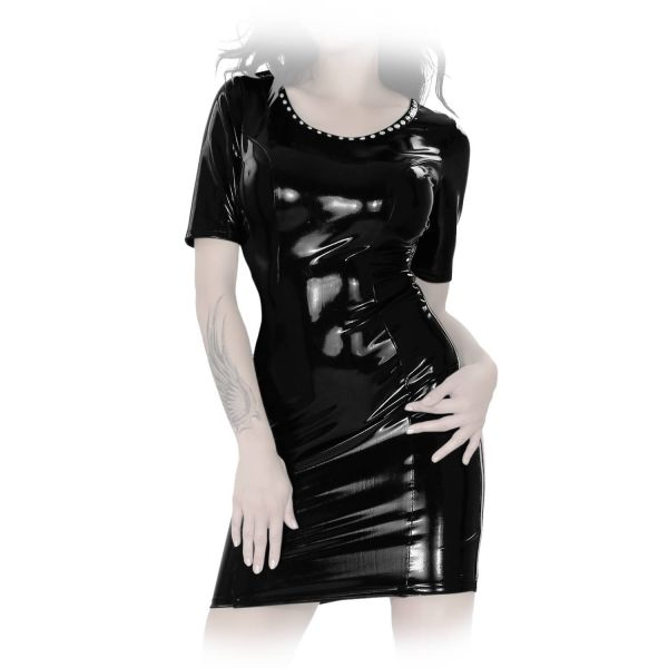 Insistline Datex Kurzarm Nieten Minikleid mit Zip