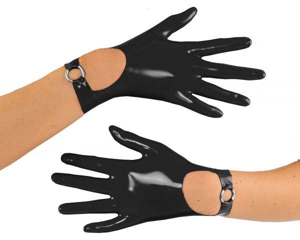 Anita Berg Latex Handschuhe mit Riemchen
