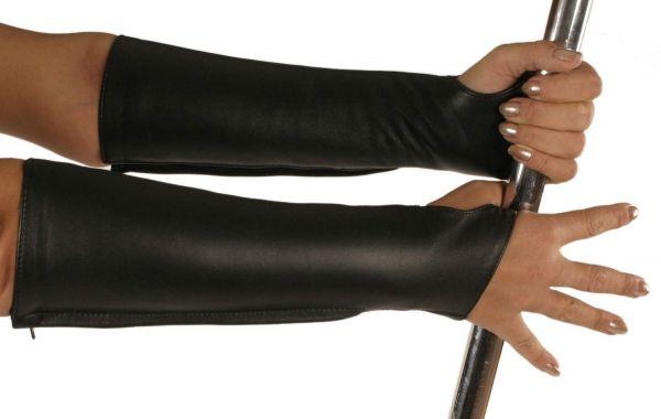 Ledapol Leder Handschuhe mit Zip