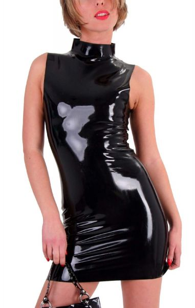 Anita Berg Latex Minikleid mit Zip