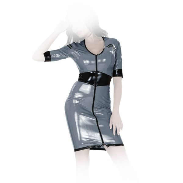 Insistline Enganliegendes Datex Military Kleid mit Zip